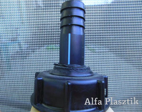 Tömlővéges adapter öntözéshez S60/d25 - ÚJ
